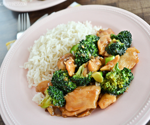 broccoli, Chicken, and chinese food image