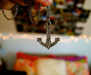 anchor, necklace, and photography image
