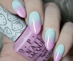 blue, pink, and ombre image