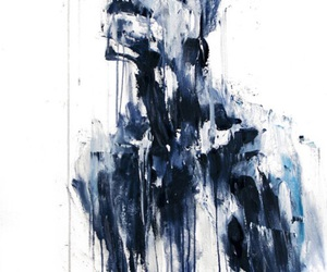 blue, art, and white image