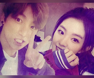 irene, jungkook, and bts image