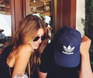 couple, camila morrone, and adidas image