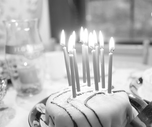 black and white, fire, and princess cake image