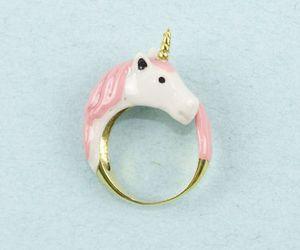 unicorn, ring, and pink image