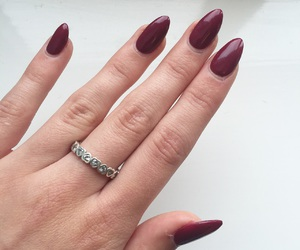 acrylics, ring, and burgundy image
