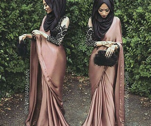hijab, fashion, and saree image
