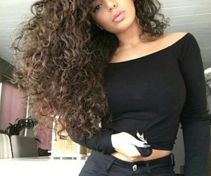 girl, curly hair, and pretty image