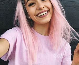 beautiful, girl, and pink image