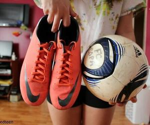 girl, soccer, and football image