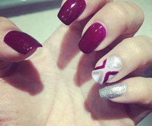mani, red, and sparkles image