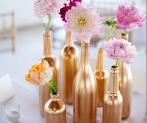 flowers, gold, and diy image