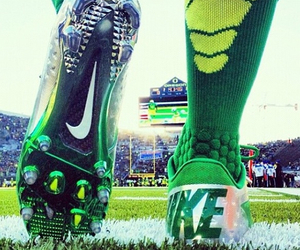 nike, football, and green image