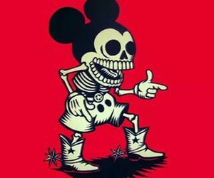 mickey, mickey mouse, and skeleton image