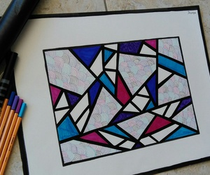 art, colours, and doodle image