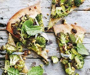 broccoli, pizza, and delicious image