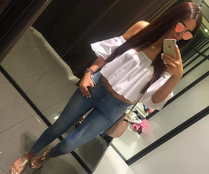 fashionista, outfit of the day, and long hair image