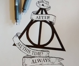 drawing, art, and harry potter image