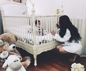 baby, mom, and sweet image