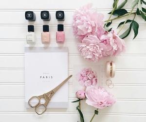 chanel, flowers, and nail polish image