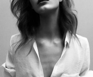 black and white, model, and skinny image