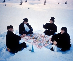 snow, winter, and beatles image