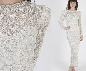 bridal, etsy, and maxi dress image