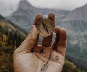 travel, adventure, and compass image