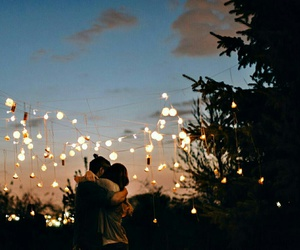 love, couple, and light image