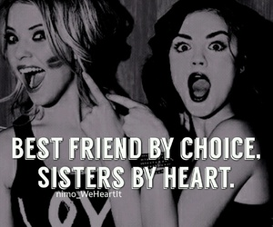 bff, heart, and sisters image