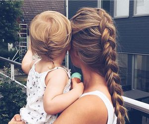 baby, braid, and hair image