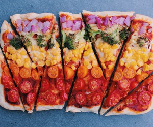 vegan, food, and pizza image
