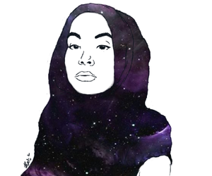 art, grunge, and hijab image