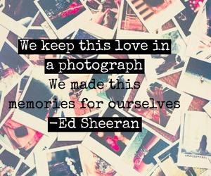 music, photograph, and ed sheeran image