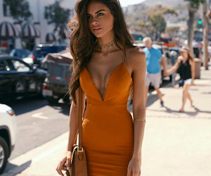 dress, style, and orange image
