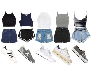 adidas, sneakers, and crop top image