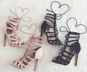 heels, pink+, and girly+ image