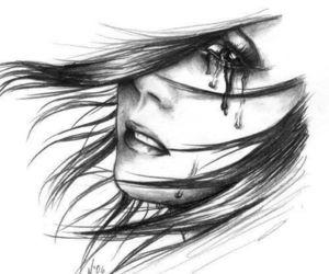 sad, tears, and drawing image