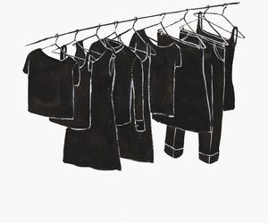 art, black, and draw image