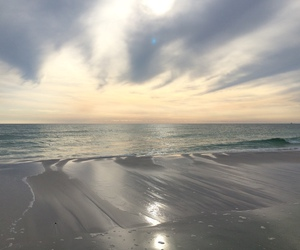 beach, sky, and aesthetic image