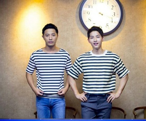 song joong ki, jin goo, and descendants of the sun image