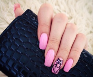 amazing, nails, and pink image