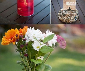 diy, vase, and flowers image