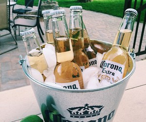 drink, beer, and corona image