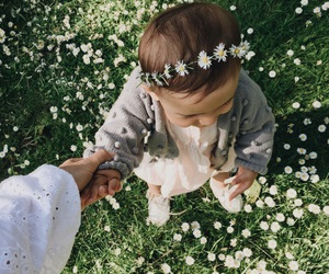 baby, beauty, and flower image