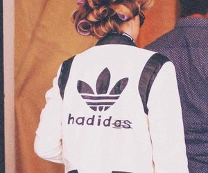 adidas, model, and hadid image