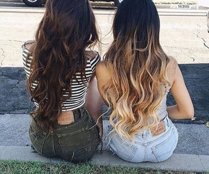 hair, friends, and friendship image