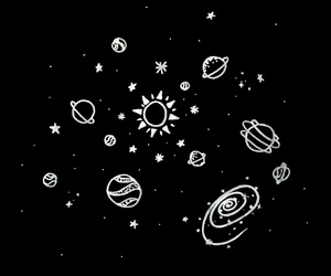 black and white, sky, and sun image