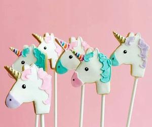 unicorn, pink, and food image