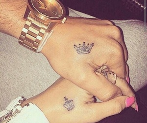 couples, goals, and tattoo image