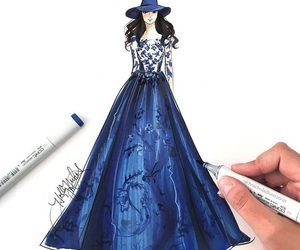 blue, draw, and dress image